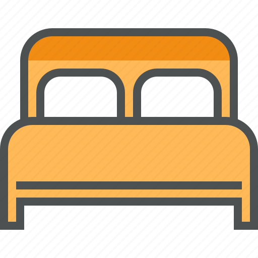 bed, bedroom, furniture, hostel, hotel, rest, sleep icon