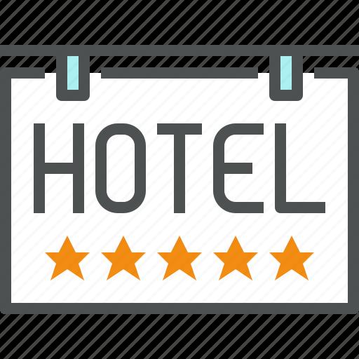 board, five, hotel, luxury, service, signboard, star icon