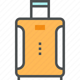 bag, baggage, handle, luggage, suitcase, travel, trolley icon