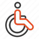 bicycle, movement, walk, weelchair icon