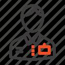 bellboy, bellhop, doorman, hotel, service icon