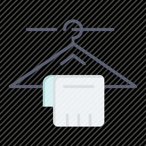 hanger, hotel, service, towel icon