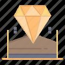 brilliant, diamond, hotel, jewel icon