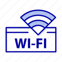 device, hotel, service, wifi icon
