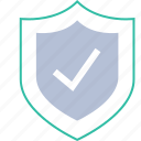 checkmark, ok, safe, secured icon
