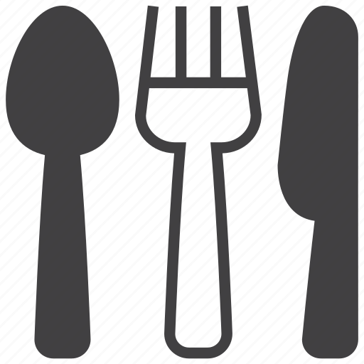 cooking, cutlery, fork, kitchen, knife, restaurant, spoon icon