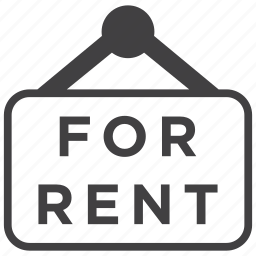 for rent, home, house, property, real estate, rent, sign icon