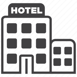 building, estate, hotel, restaurant, service, tower, vacation icon