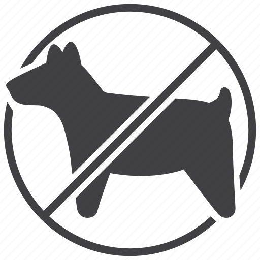 allowed, forbidden, pets, prohibited, sign, stop, warning icon
