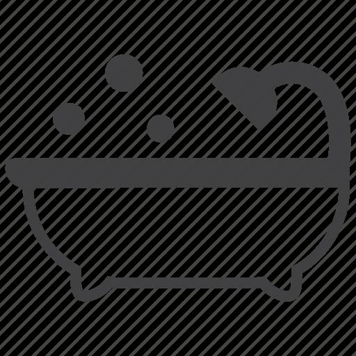 bath, bathing, bathroom, hygiene, shower, soap, water icon