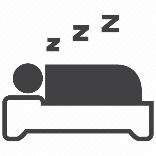 bed, bedroom, nap, rest, sleep, sleeping, snore icon