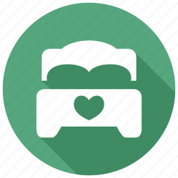 bed, bedroom, romance icon