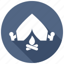 adventure, camp, tent icon