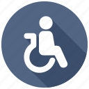 disabled, handicap, patient, wheelchair icon