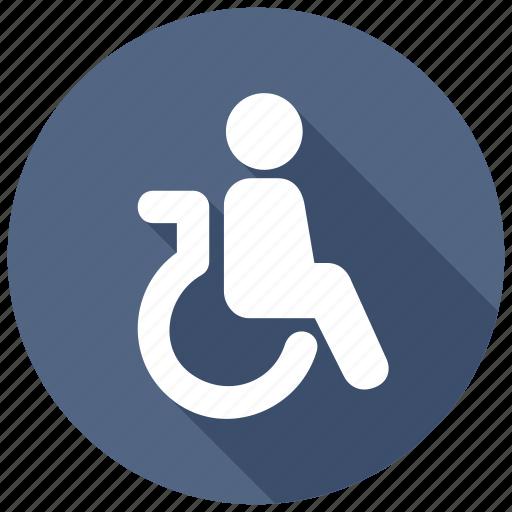 disabled, handicap, patient, wheelchair icon