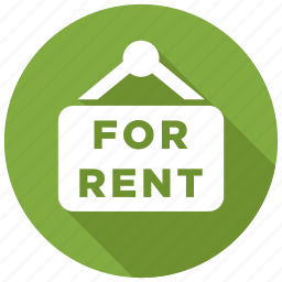for rent, rent icon
