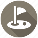 golf, hole icon