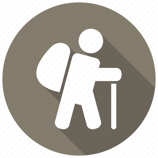 adventure, backpack, hiking, travel icon