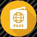 passport, travel, pass icon