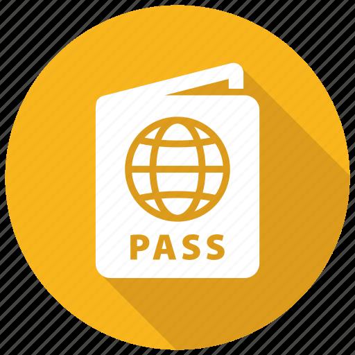 pass, passport, travel icon