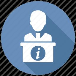reception, receptionist icon