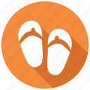 footwear, sandals, slippers icon