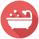 bathtub, hygiene, shower icon