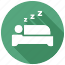 sleep, bedroom, rest icon