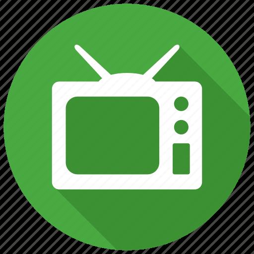 monitor, news, television, tv icon