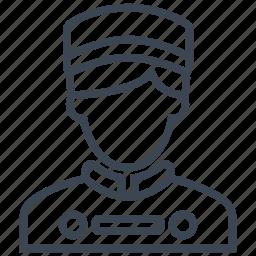 bellboy, concierge, hotel, man, person, restaurant, waiter icon
