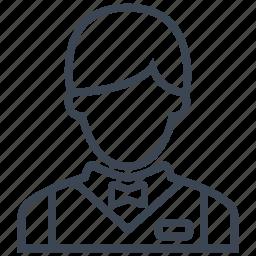bellboy, busboy, hotel, restaurant, service, serving, waiter icon