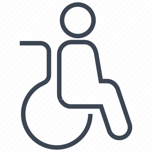 disability, disable, disabled, handicap, hospital, patient, wheelchair icon