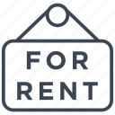 apartment, estate, for rent, home, house, property, rent icon