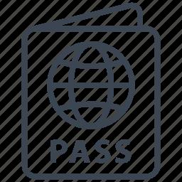 document, flight, id, passport, travel, visa, world icon