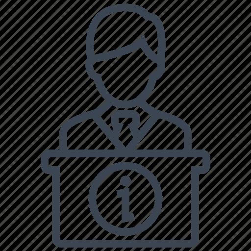 customer, desk, help, hotel, info, reception, service icon