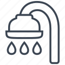 bath, bathroom, bathtub, drop, shower, water icon