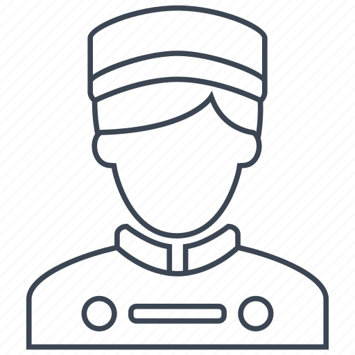 bellboy, concierge, hotel, man, people, restaurant, waiter icon