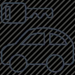 auto, car, key, rental, transport, travel, vehicle icon