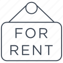 rent, estate, home, house, for rent, property, sign