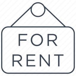estate, for rent, home, house, property, rent, sign icon