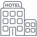 building, holiday, hotel, motel, restaurant, room, vacation icon