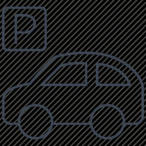 Parking, car, sign, vehicle, parking lot, transport, transportation icon - Download on Iconfinder