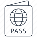 passport, id, pass, travel, visa, card, plane