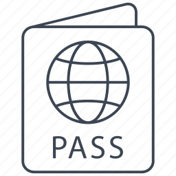 card, id, pass, passport, plane, travel, visa icon