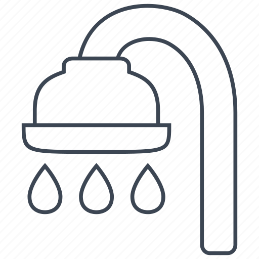 bath, bathroom, drop, faucet, pipe, shower, water icon