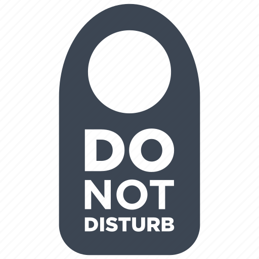 disturb, do not disturb, privacy, private icon