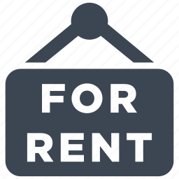 for rent, real estate, rent icon