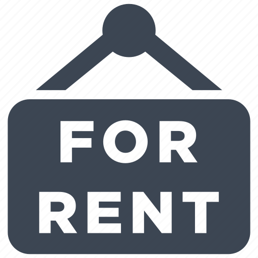 Real Estate Renting: For Rent, Real Estate, Rent Icon