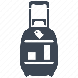 airport, bag, baggage, hotel, luggage, suitcase, vacation icon