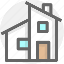 building, family, home, house icon